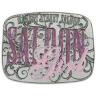 Custom bling bling belt buckle.