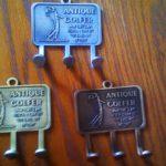 Antique golfer key chain holder